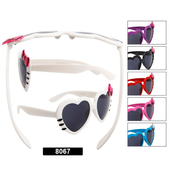 e33f9481b8 Whiskers   Bows Heart Shaped Sunglasses