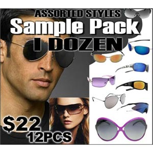 http://www.wholesalediscountsunglasses.com/images/D/adult_sample_pack.lge.jpg