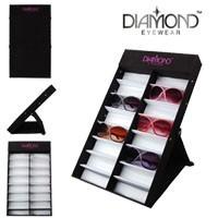 Folding Diamond Eyewear Sunglass Display Tray 7065