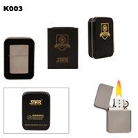 Dark Silver Finish Brass Oil Lighter K003