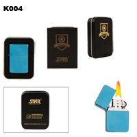 Blue Finish Brass Oil Lighter K004