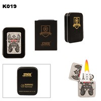 Motorcycle & Wings Brass Oil Lighter K019