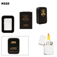 Pattern Etching Brass Oil Lighter K025