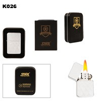 Pattern Etching Brass Oil Lighter K026