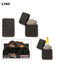 Black Spray Finish Wholesale Lighter L103