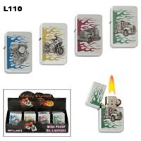 Assorted Emblems with Flames Wholesale Lighters L110