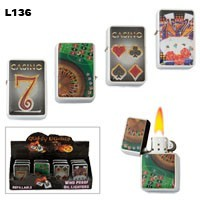 "Assorted ""Casino Fun"" Wholesale Lighters L136"