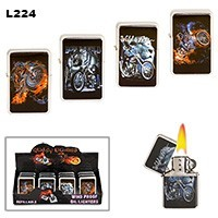 Motorcycles & Flames Wholesale Lighters L224
