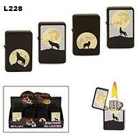Wolf & Full Moon Wholesale Lighters L228