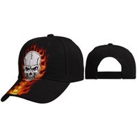 Skull with Flames Wholesale Cap C6003