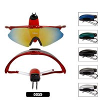 Sunglass Visor Clips with Solid Colors 0059