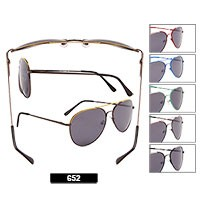 Wholesale Aviator Sunglasses  652 w/spring hinges