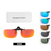 Wholesale Polarized Clip On Sunglasses 8269