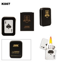Ace of Spades Brass Oil Lighter K007