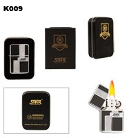 Star® Pattern Brass Oil Lighter K009