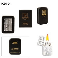 Bamboo Design Brass Oil Lighter K010
