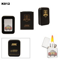 Skull & Lucky 13 Brass Oil Lighter K012