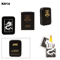 Dragon in Chrome Brass Oil Lighter K014
