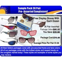 36 pair Sunglasses Sample Pack  SPA2